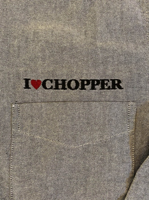 OX DB L/Sシャツ『I LOVE CHOPPER』